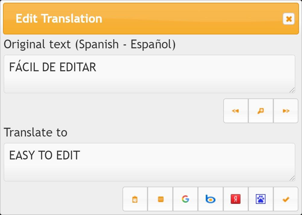 Editando la traducción automática